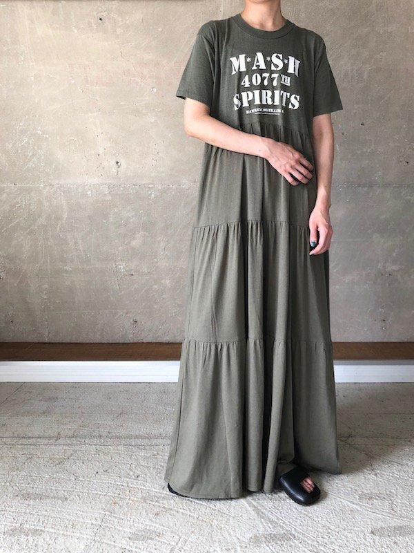 Remake tiered maxi dress  / リメイクティアードマキシワンピース(kha)