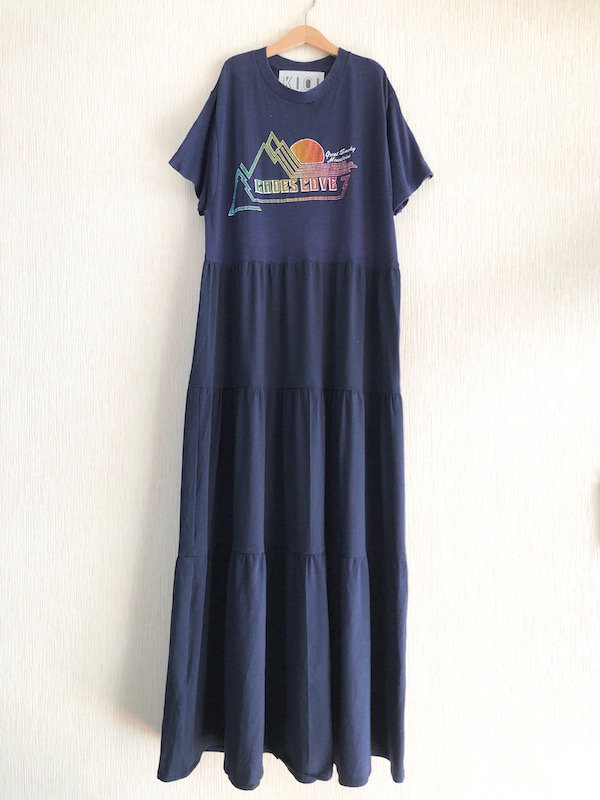 Remake tiered maxi dress  / リメイクティアードマキシワンピース(NV-2)