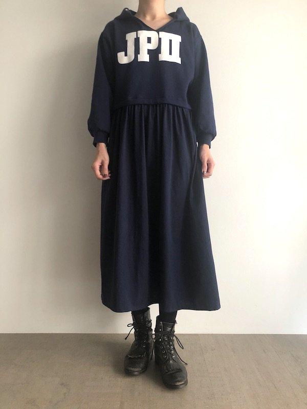 Remake Parka Maxi Dress  / リメイク パーカロングワンピース  (Navy)