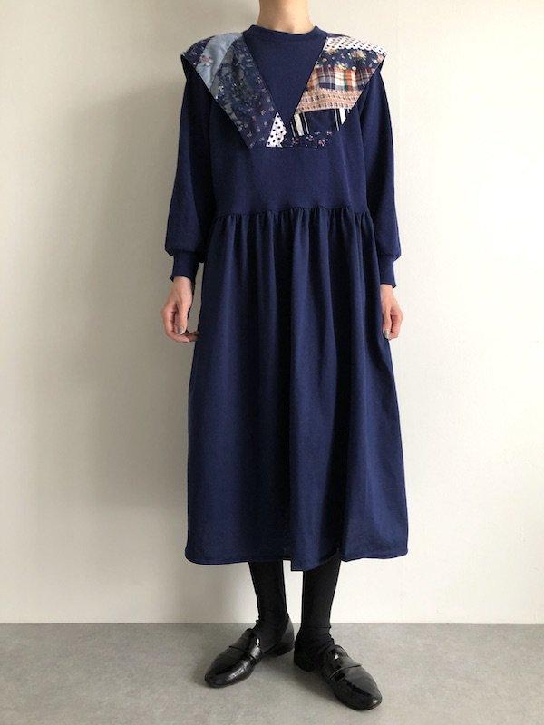 Remake  sweat dress / リメイク スウェットワンピース ( patch )