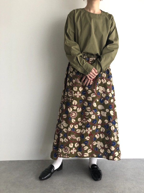 Remake Rumania shirt dress / ルーマニア軍 リメイク花柄ワンピース(browsing)