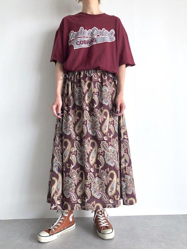 Remake Indian sidecord Dress / リメイク インド綿サイドコードワンピース(D.red)