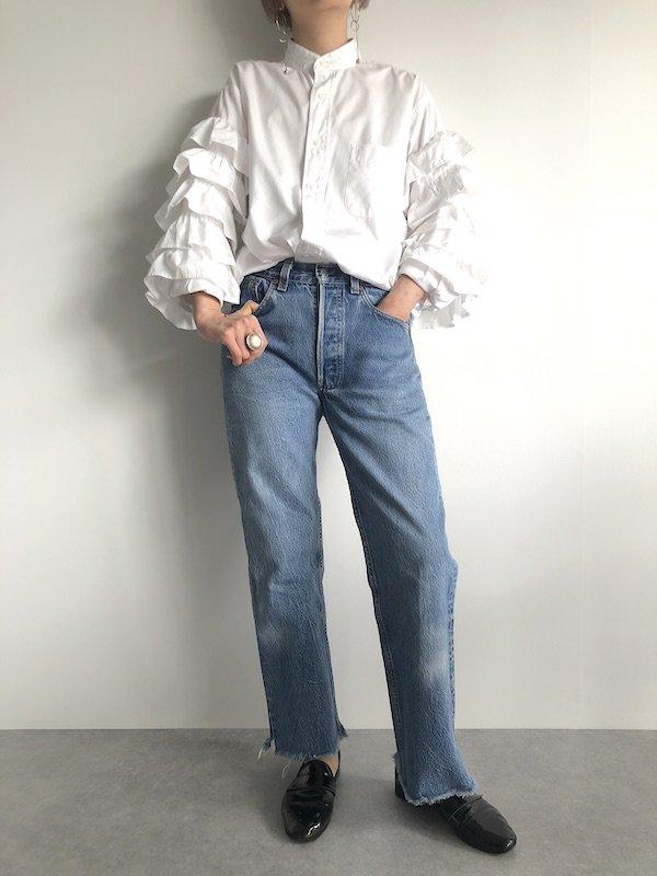 Remake frill sleeve shirt  / リメイク フリルスリーブシャツ(1)