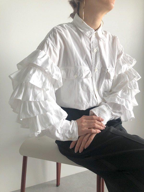 Remake frill sleeve shirt  / リメイク フリルスリーブシャツ(2)