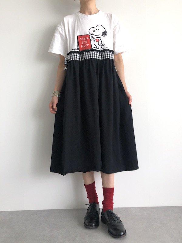 Remake T-shirt  Dress  / リメイクTシャツワンピース (monotone)