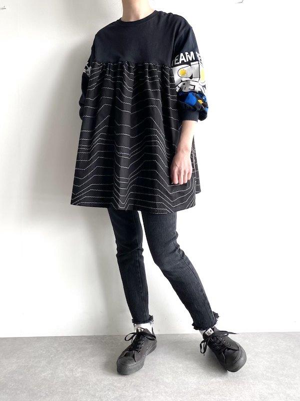 Remake Tshirt sleeve smog / リメイク Tシャツスリーブ スモッグ