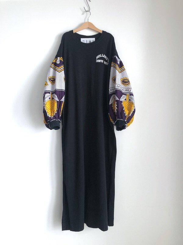 Remake African T-shirt  Dress   /  リメイク アフリカンTシャツワンピース (ppl)