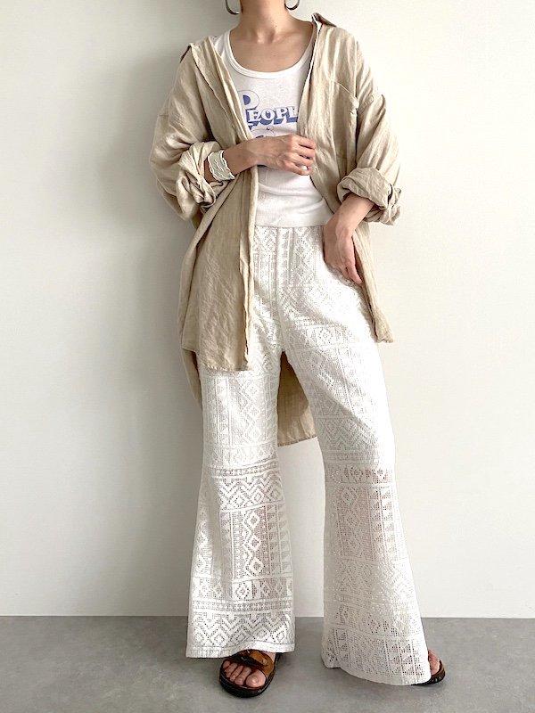 KICI -  Lace flare easy pants /  レース フレアイージーパンツ
