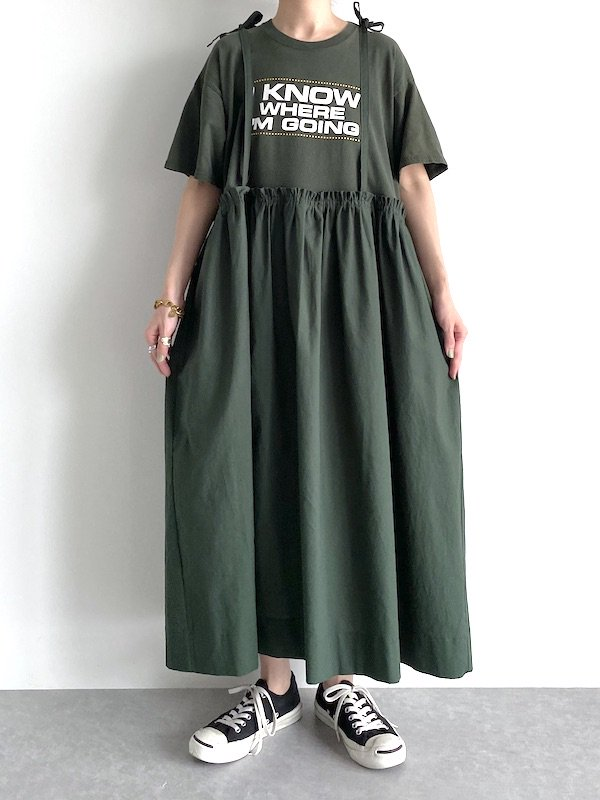 Remake loose cami dress  / リメイクルーズキャミワンピース(Ever Grn)