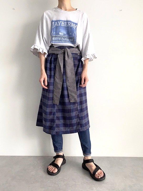 Remake  belt dress  / リメイクベルト付きワンピース(Blu)