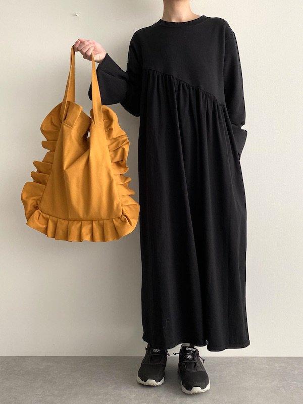 Canvas Tote Bag  Small  / 帆布 フリルバック  小サイズ (mustard)