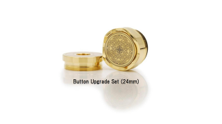 Button Upgrade Set 24k GOLD(22mm)/ PlatedCopper Button Upgrade Set (24mm用) 【〒】