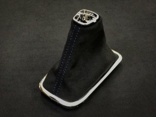 WRX S4 / LEVORG シフトブーツ (Black × Blue stitch)
