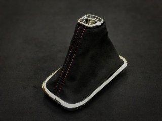 WRX S4 / LEVORG シフトブーツ (Black × Red stitch)