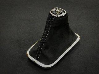 WRX S4 / LEVORG シフトブーツ (Black × Silver stitch)