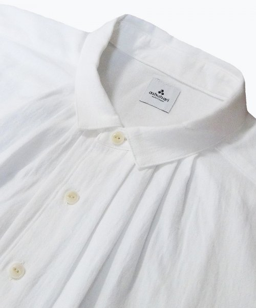 small collar tuck shirt ( ashuhari )