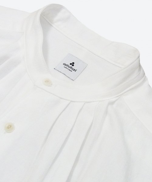 <img class='new_mark_img1' src='https://img.shop-pro.jp/img/new/icons58.gif' style='border:none;display:inline;margin:0px;padding:0px;width:auto;' />band collar tuck shirt ( ashuhari )