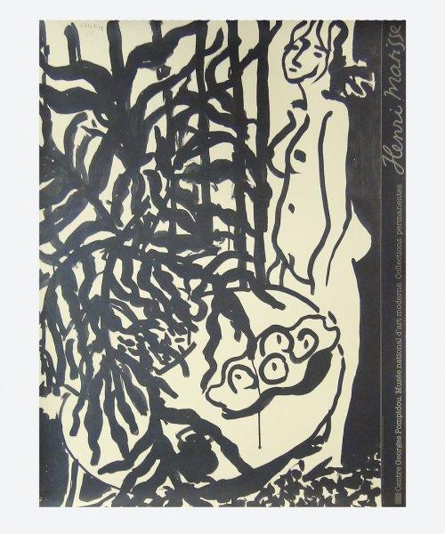 Henri Matisse / COMPOSITION NU DEBOUT ET FOUGERE NOIRE ( reuse poster )