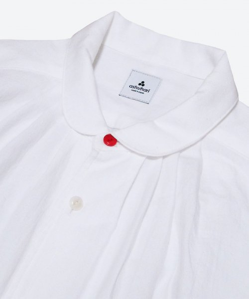 <img class='new_mark_img1' src='https://img.shop-pro.jp/img/new/icons7.gif' style='border:none;display:inline;margin:0px;padding:0px;width:auto;' />RED BUTTON round collar tuck shirt  ( ashuhari )