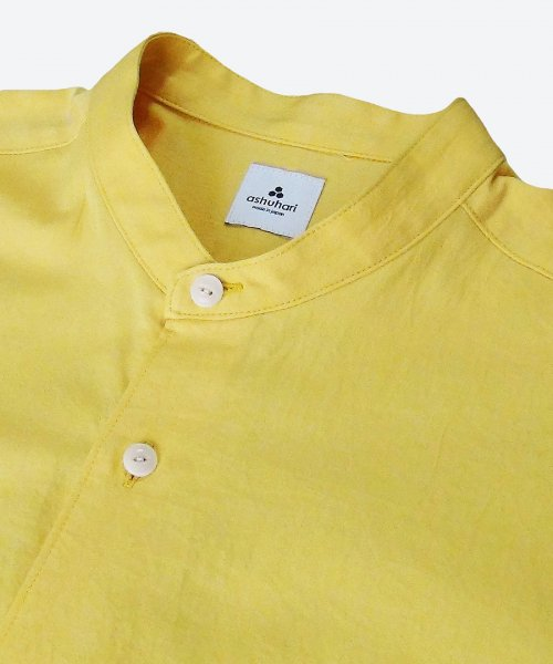 <img class='new_mark_img1' src='https://img.shop-pro.jp/img/new/icons29.gif' style='border:none;display:inline;margin:0px;padding:0px;width:auto;' />band collar Aline shirt ( ashuhari )