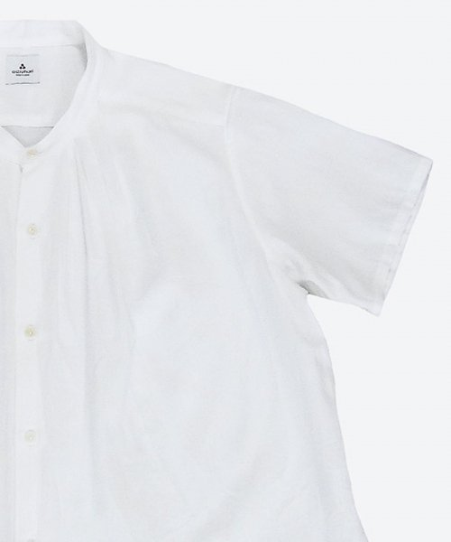 <img class='new_mark_img1' src='https://img.shop-pro.jp/img/new/icons7.gif' style='border:none;display:inline;margin:0px;padding:0px;width:auto;' />band collar tuck short sleeved shirt  ( ashuhari )