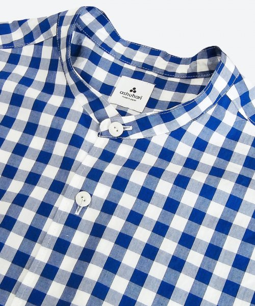 <img class='new_mark_img1' src='https://img.shop-pro.jp/img/new/icons5.gif' style='border:none;display:inline;margin:0px;padding:0px;width:auto;' /> gingham band collar Aline shirt ( ashuhari )