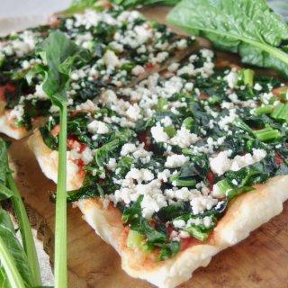 有機野菜の天然酵母ピザ<綾ホウレン草>