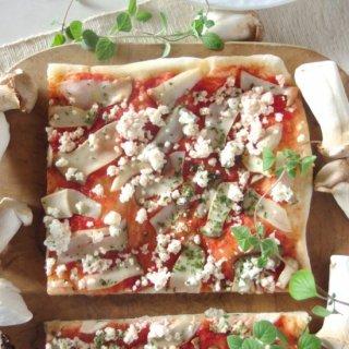 簡単調理で身体に優しい♪有機野菜の天然酵母ピザ<綾キノコ>