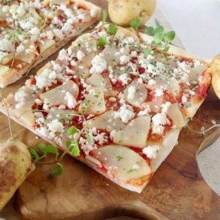 簡単調理で身体に優しい♪有機野菜の天然酵母ピザ<綾ポテト>