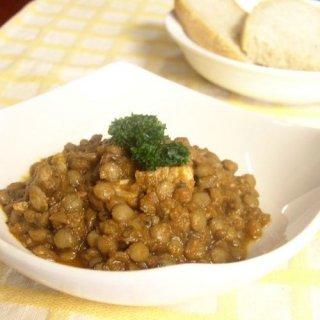 レンズ豆と綾豚肉のトマト煮込み