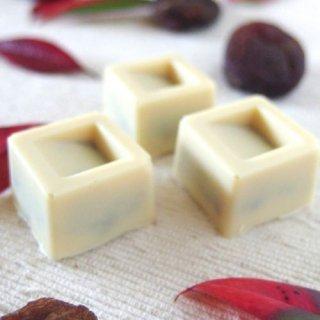 ギフトにも嬉しい自然食品♪オーガニックホワイトチョコ100%使用ミニチョコ<アプリコット>(4個入り)