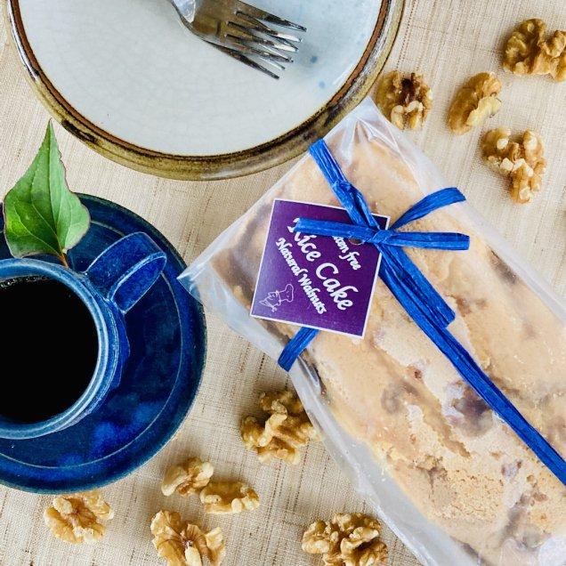 ギフトにも♪グルテンフリー&乳製品・白砂糖不使用 米粉ケーキ<無添加クルミ>