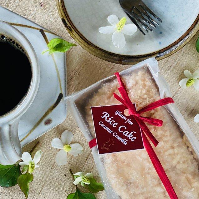 グルテン&乳製品&白砂糖フリー♪米粉ケーキ<ココナッツクランブル>