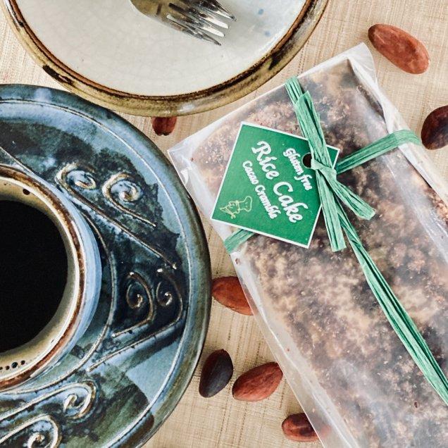 グルテン&乳製品&白砂糖フリー♪米粉ケーキ<ココアクランブル>
