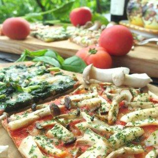 ギフトにも♪簡単調理で身体に優しい♪有機野菜天然酵母ピザセット<6枚>