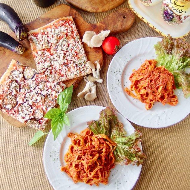 お歳暮&クリスマスギフトにも♪手作りパスタ&有機野菜の天然酵母ピザセット<パスタ2食、ピザ2食入>