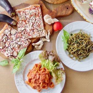 お歳暮&クリスマスギフトにも♪冷製パスタ&有機野菜の天然酵母ピザセット<パスタ2食、ピザ2食入>