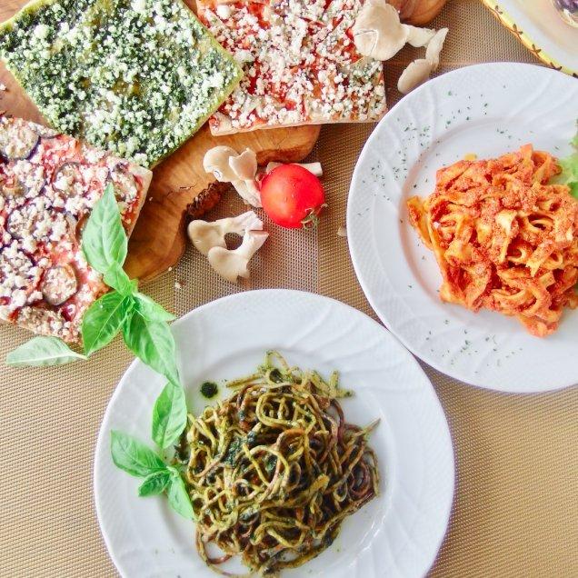 お歳暮&クリスマスギフトにも♪冷製パスタ&有機野菜の天然酵母ピザセット<パスタ2食、ピザ3食入>