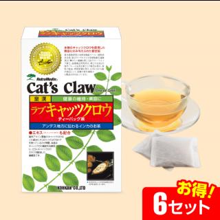 ラブキャッツクロウ茶 ティーバッグ(30包)【6セット】