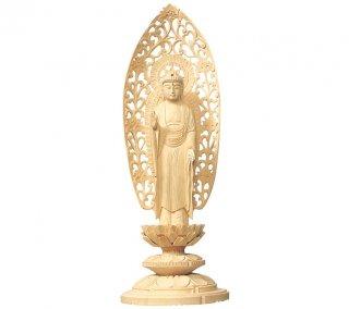 白木仏像 丸台座 舟弥陀