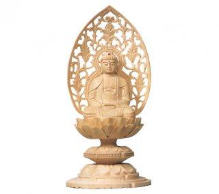 白木仏像 丸台座 座釈迦
