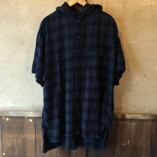 vintage INDIGO Hooded Shirts S/S