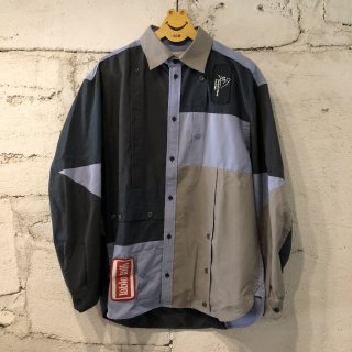 PATCH WORK SHIRT SOLID  / M