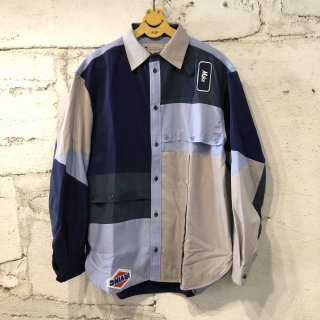 PATCH WORK SHIRT SOLID  / L
