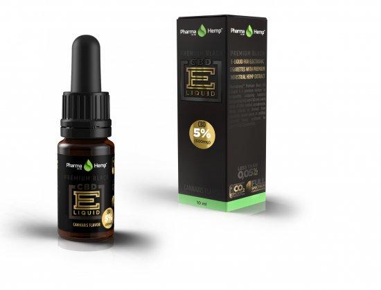 5%プレミアムブラック カンナビスフレーバーベイプリキッド E-Vape Premium Black Cannabis CBD500mg配合/10ml