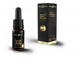 5%プレミアムブラック バニラカスタードフレーバーベイプリキッド E-Vape Premium Black Vanilla Casterd CBD500mg配合/10ml