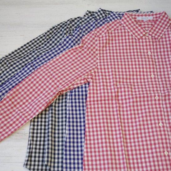 SHETH Gingaham check shirt - シス L ギンガムチェックシャツ