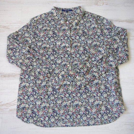 SHETH - リバティ柄レギュラーカラーシャツ
