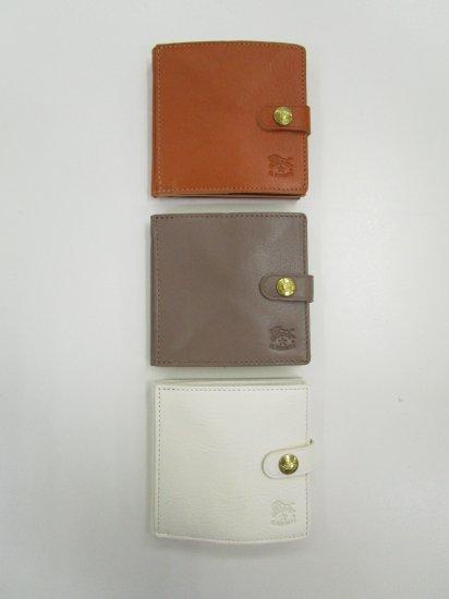IL BISONTE - 正方形ボタン付2つ折り財布【正規取扱品】