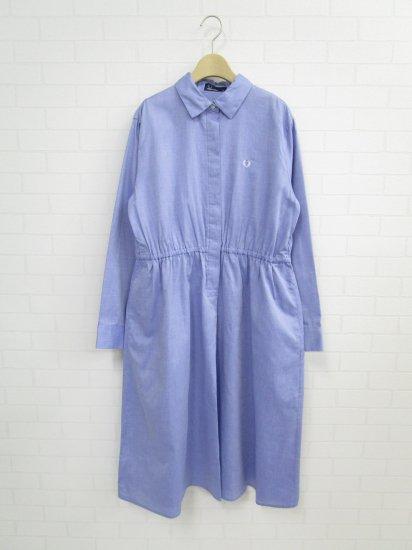 FRED PERRY - バックプリーツシャツドレス
